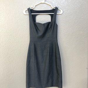Sharkskin dress with keyhole back